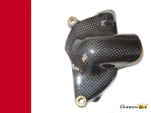 DUCATI 848 1098 1198 749 999 S4RS 998 CARBON FIBRE WATER PUMP COVER PLAIN GLOSS