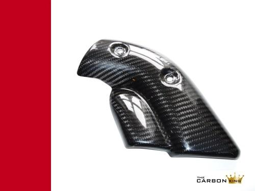 CARBON KING EXHAUST HEAT SHIELD DUCATI 748 916 996 998 FIBER GUARD FIBRE TWILL