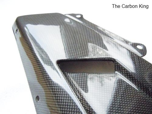 DUCATI 848 1098 1198 CARBON FIBRE BELLY PANS IN PLAIN WEAVE FIBRE CARBON KING