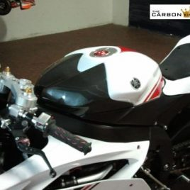 YAMAHA R6 08-2012 CARBON FIBRE PETROL TANK COVER IN PLAIN WEAVE