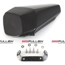 YAMAHA R1 2015 ON CARBON FIBRE PASSENGER SEAT COWL COVER BY FULLSIX TWILL GLOSS