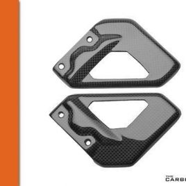 THE CARBON KING APRILIA RSVR MILLE & TUONO CARBON FIBRE RIDERS HEEL GUARDS FIBER