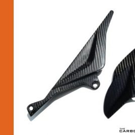 THE CARBON KING APRILIA RSV R & TUONO CARBON FIBRE CHAIN GUARD SET FIBER 04-09