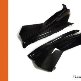 APRILIA RSV4 CARBON FIBRE UPPER FAIRING PANELS IN TWILL GLOSS FIBER PAIR INFILLS