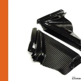 APRILIA RSV4 SMALL CARBON FIBRE SIDE FAIRING PANELS INSERTS IN GLOSS FIBER PAIR