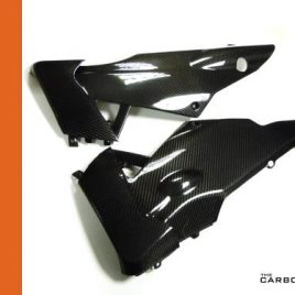 APRILIA RSV4 CARBON FIBRE BELLY PANS PANELS IN TWILL GLOSS FIBER (PAIR) BELLYPAN