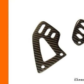 THE CARBON KING APRILIA RSV4 CARBON FIBRE RIDER'S HEEL GUARDS TWILL GLOSS FIBER