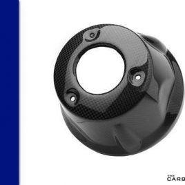 THE CARBON KING BMW K1200S K1200R CARBON FIBRE EXHAUST END CAP TRIM COVER FIBER