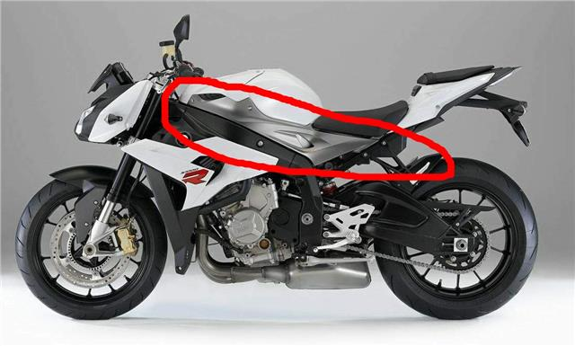 BMW S1000R NAKED & S1000RR 2015 ON CARBON FIBRE PETROL TANK SIDE INFILL PANELS