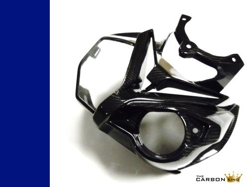 BMW S1000R CARBON FIBRE FRONT HEADLAMP SURROUND NOSE FAIRING FIBER IN TWILL