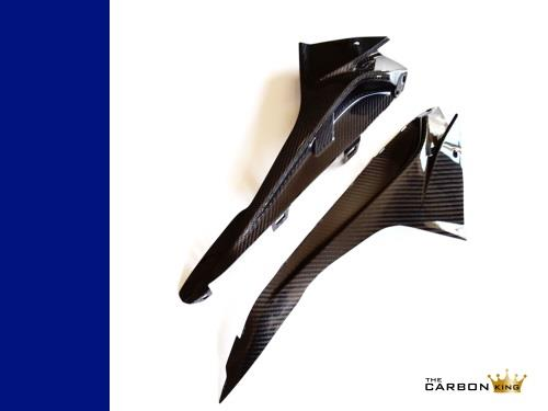 BMW S1000RR 2015 ONWARDS CARBON FIBRE UPPER FAIRING INFILL PANELS TWILL FIBER