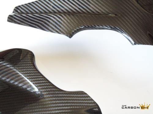BMW S1000RR 09-2014 CARBON FIBRE FRAME PROTECTORS IN TWILL WEAVE
