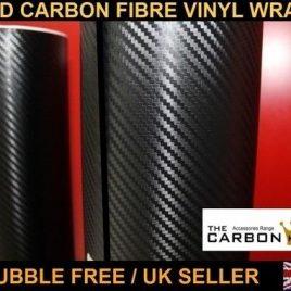 3D CARBON FIBRE BUBBLE FREE WRAP 2X A4 SHEET 'BEST PRODUCT IN THE MARKET'