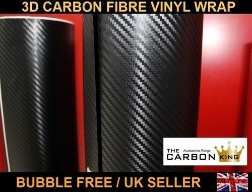 3D CARBON FIBRE BUBBLE FREE WRAP 2X A4 SHEET 'BEST PRODUCT IN THE MARKET'