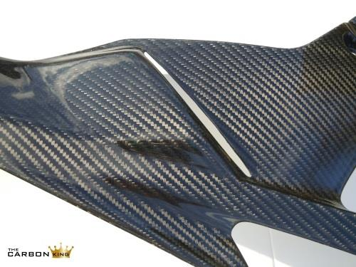 BMW S1000RR 2009-2014 CARBON FIBRE STREET BELLY PANS (PAIR) FIBER 3K TWILL