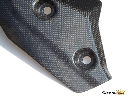THE CARBON KING DUCATI STREETFIGHTER EXHAUST HEAT SHIELD FIBER FIBRE FIGHTER
