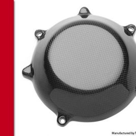 THE CARBON KING CLOSED CARBON FIBRE CLUTCH COVER FITS MOST DUCATI FIBER 3K PLAIN