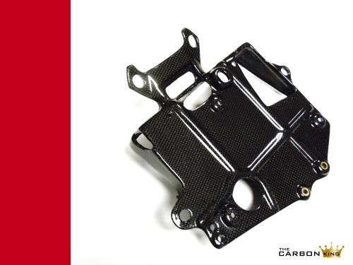 DUCATI 748 916 996 998 CARBON FIBRE BATTERY TRAY PLAIN WEAVE CARBON KING FIBER