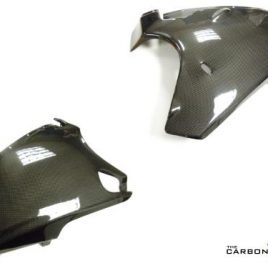 DUCATI 748 916 996 CARBON FIBRE BELLY PANS IN PLAIN GLOSS WEAVE PAIR SUPPLIED