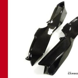 DUCATI 749 999 CARBON FIBRE AIR INTAKE COVERS IN TWILL WEAVE FIBER GLOSS