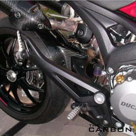 DUCATI MONSTER 796 1100 CARBON FIBRE REAR HUGGER FOR SINGLE SIDED SWINGARM FIBER
