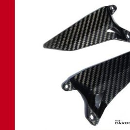 THE CARBON KING DUCATI 848 1098 1198 CARBON FIBRE HEEL GUARDS FIBER RIDERS