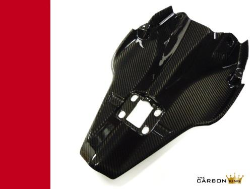 DUCATI 848 1098 1198 CARBON FIBRE TAIL UNDERTRAY IN GLOSS TWILL WEAVE UNDER TRAY