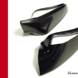 DUCATI 848 1098 1198 CARBON FIBRE MIRROR COVERS IN PLAIN WEAVE FIBER CARBON KING