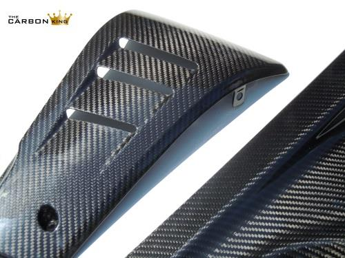 THE CARBON KING DUCATI DIAVEL CARBON FIBRE BELLY PAN SET TWILL WEAVE 100% SETS