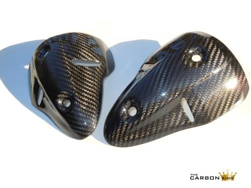 THE CARBON KING EXHAUST HEAT SHIELDS PAIR FOR DUCATI MONSTER 696 796 1100 FIBER
