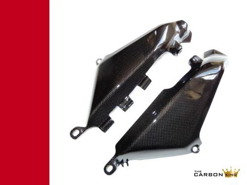 THE CARBON KING DUCATI 696 796 1100 MONSTER CARBON FIBRE RADIATOR COVERS FIBER