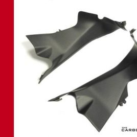 DUCATI 1199 1299 899 PANIGALE AIR DUCT COVERS CARBON PLAIN SATIN WEAVE TUBE MATT