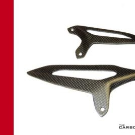 DUCATI 899 959 1199 1299 CARBON FIBRE RIDERS HEEL GUARDS IN PLAIN SATIN (MATT)
