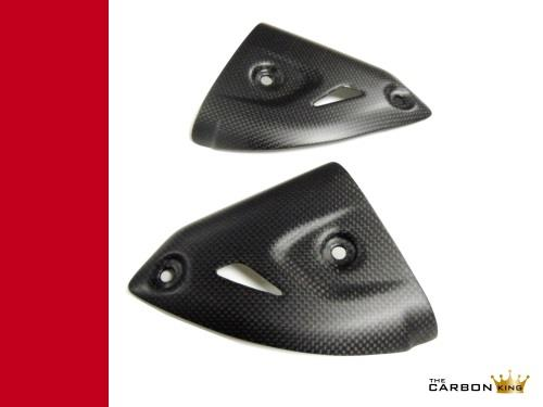 DUCATI PANIGALE 899 1199 TERMIGNONI CARBON FIBRE EXHAUST HEAT SHIELDS GUARDS