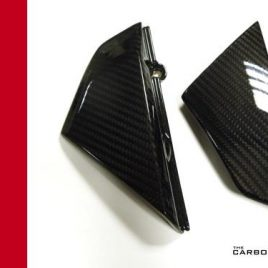 DUCATI SCRAMBLER CARBON FIBRE UNDER TANK SIDE PANELS GLOSS TWILL GLOSS WEAVE
