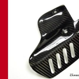DUCATI 848 1098 1198 CARBON FIBRE LOWER TERMIGNONI EXHAUST HEAT SHIELD IN TWILL