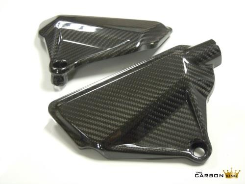 DUCATI XDIAVEL CARBON FIBRE ENGINE COVER PANELS IN TWILL WEAVE PAIR CARBON KING