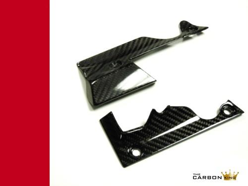 DUCATI XDIAVEL N/S & O/S CARBON FIBRE RIDERS AREA FOOTREST TRIM SET TWILL WEAVE