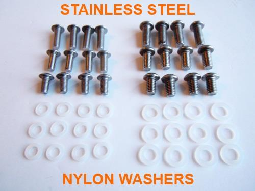 EASY-BOLT M5 & M6 MIXED SIZE SELECTION PACK OF 24 STAINLESS BOLTS INC 24 WASHERS