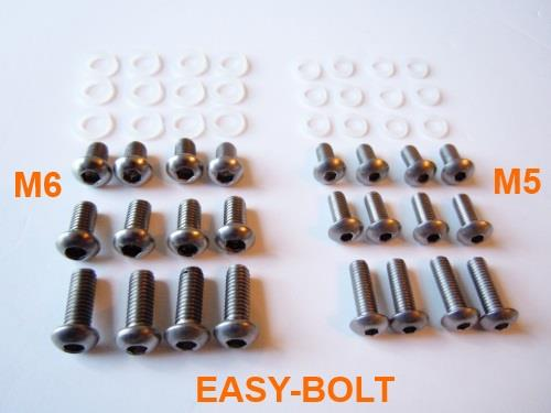 EASY-BOLT M5 M6 MOTORCYCLE MOTORBIKE FIXINGS REAR HUGGER MUDGUARD SCREW BOLT