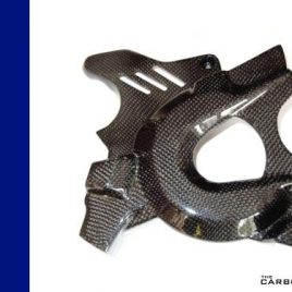 THE CARBON KING BMW F800GS CARBON FIBRE ENGINE SPROCKET COVER IN 3K PLAIN FIBER