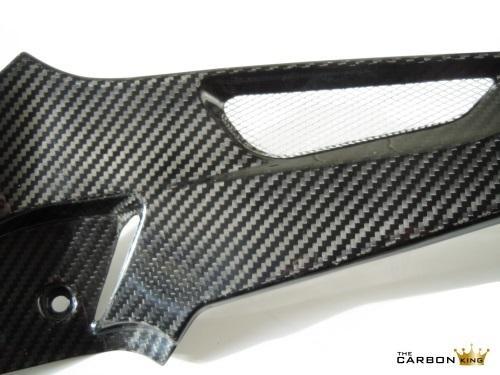 BMW S1000RR 2009-2014 CARBON FIBRE PETROL TANK SIDE PANELS INFILLS FIBER PAIR