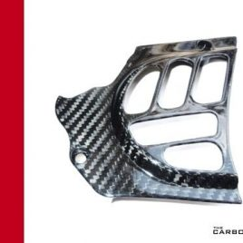 THE CARBON KING DUCATI SPROCKET COVER FITS VARIOUS MODELS SEE DESCRIPTION FIBRE