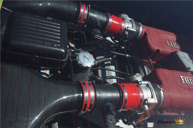 FERRARI 360 MODENA/SPIDER CARBON FIBRE AIR BOX COVERS (PAIR) FILTERS MANUAL F1