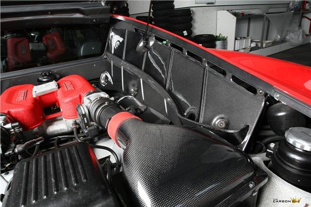 FERRARI 360 MODENA COUPE F1/MANUAL CARBON FIBRE 4 PIECE ENGINE BAY COVER SET