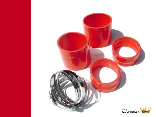 FERRARI 360 MODENA/SPIDER RED AIR INTAKE HOSES AND CLIPS FOR CARBON AIR BOXES