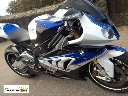 BMW S1000RR 09-2014 CARBON FIBRE PETROL TANK SIDE FAIRING PANELS INFILLS FIBER