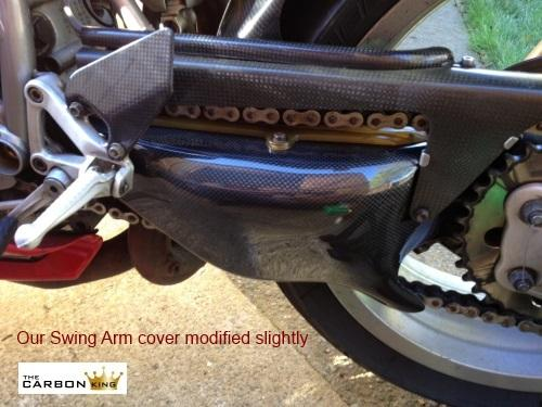 THE CARBON KING DUCATI 748 916 996 998 SWINGARM COVER SWING ARM FIBER FIBRE