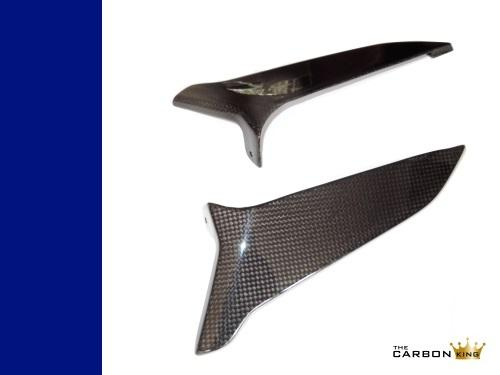 THE CARBON KING BMW K1300S FAIRING KNEE INSERTS CARBON 3K PLAIN FIBRE FIBER