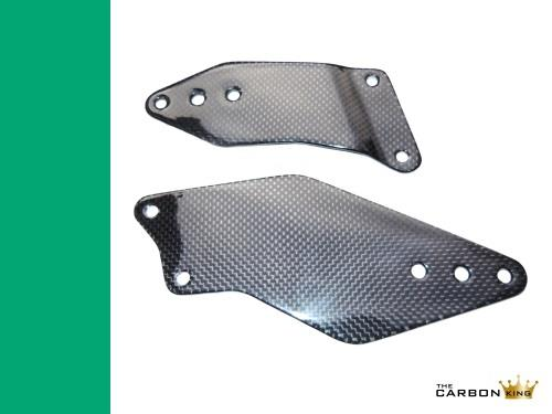 THE CARBON KING KAWASAKI ZX10R 2006-07 CARBON FIBRE RIDERS HEEL GUARDS FIBER
